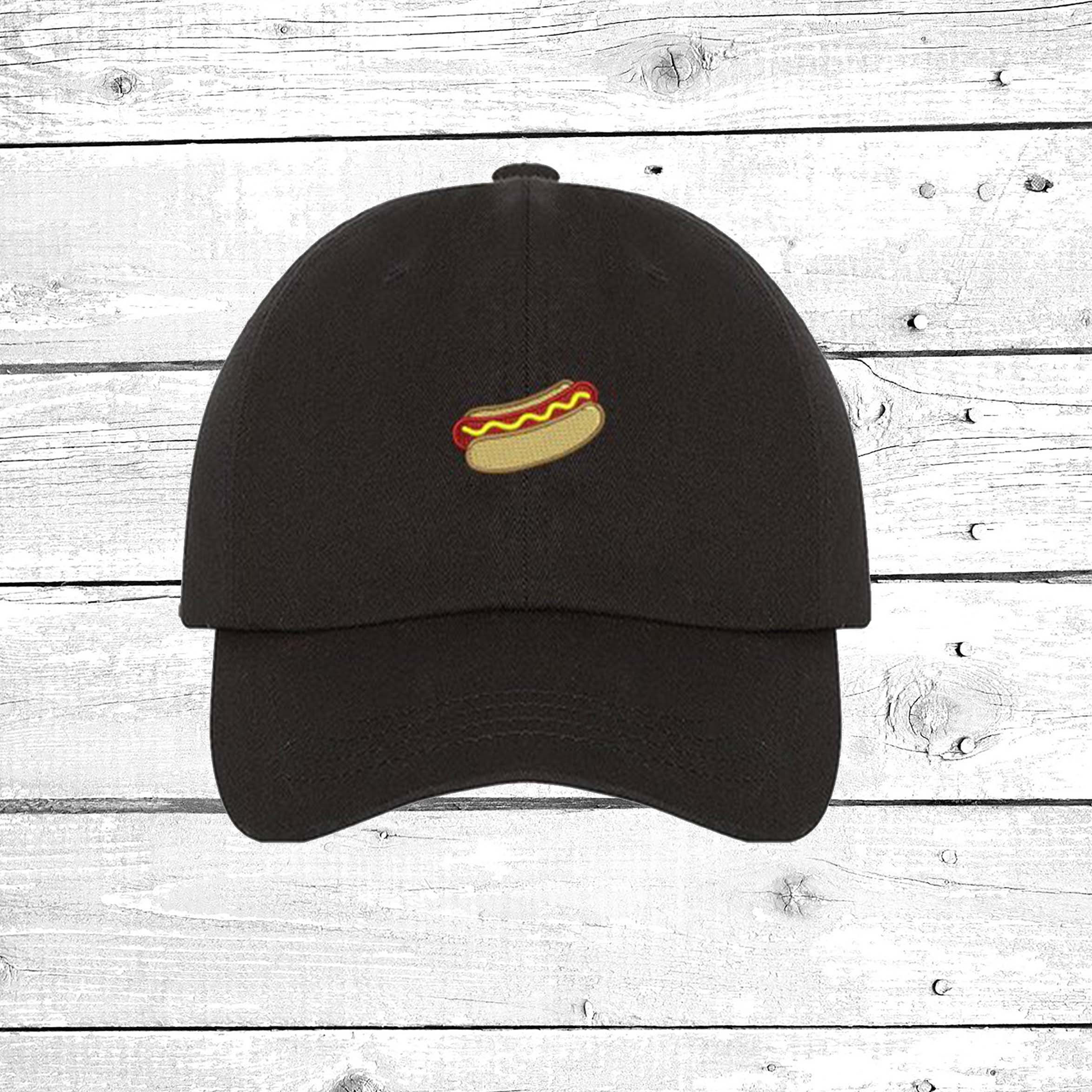 b078c41e553 Hot Dog Hats Mini Hot Dog Baseball hat Hot Dog Patch Embroidered ...