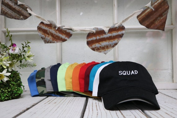 a7d03658464 Squad Dad Hat SQUAD Embroidered Baseball Caps Squad