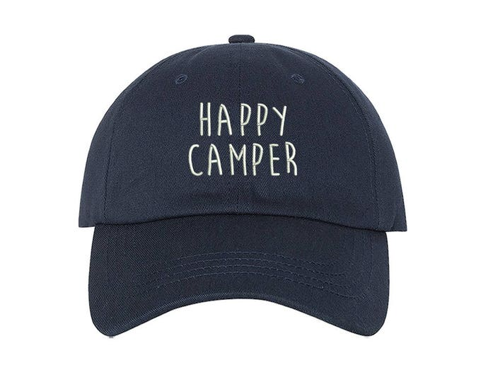 Happy Camper Baseball Hat Embroidered Baseball Cap Unisex Hats,  Camping Baseball Sun hats for men Love to camp gift