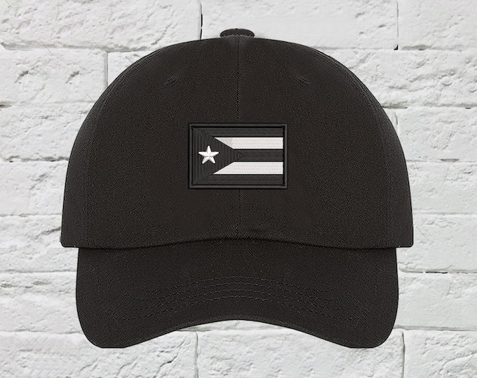 Puerto Rican Resistance Flag Baseball Hat Low Profile Hat Embroidered Baseball Caps Puerto Rico Dad Hats Anarchy Protest Hat Unisex