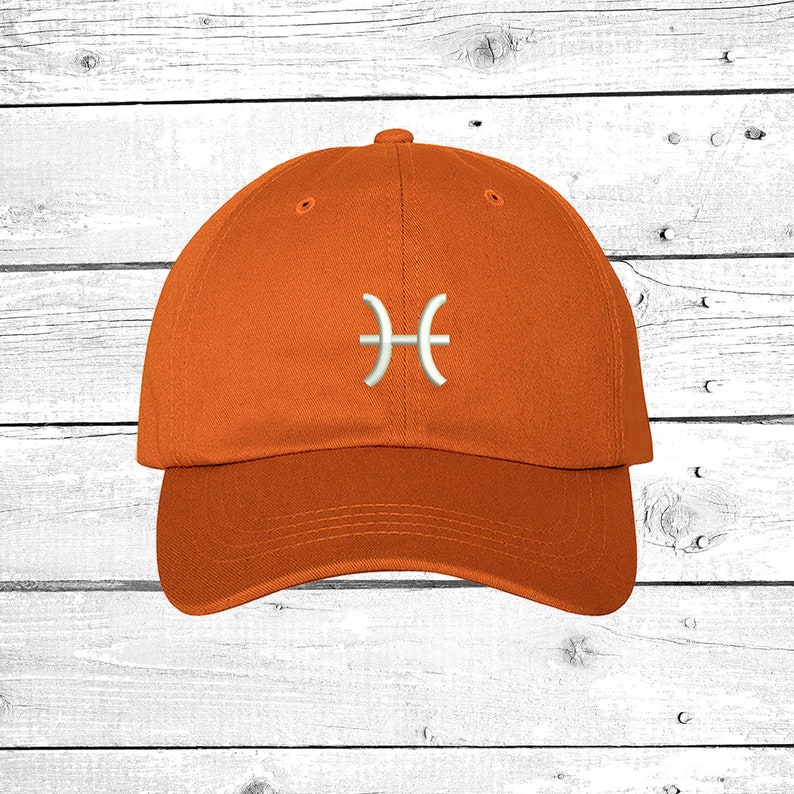 e33bd45359685 Cap Pisces Baseball Hat Zodiac Horoscope Sign Embroidered