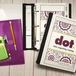 2019 Premium Salon or Small Business Organizer with Binder & Calculator. Manage Income and Expenses and More. Purple/Fuschia with Green