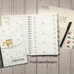 Beautiful Winter Owls Address Book - Alphabetical with Divider Tabs