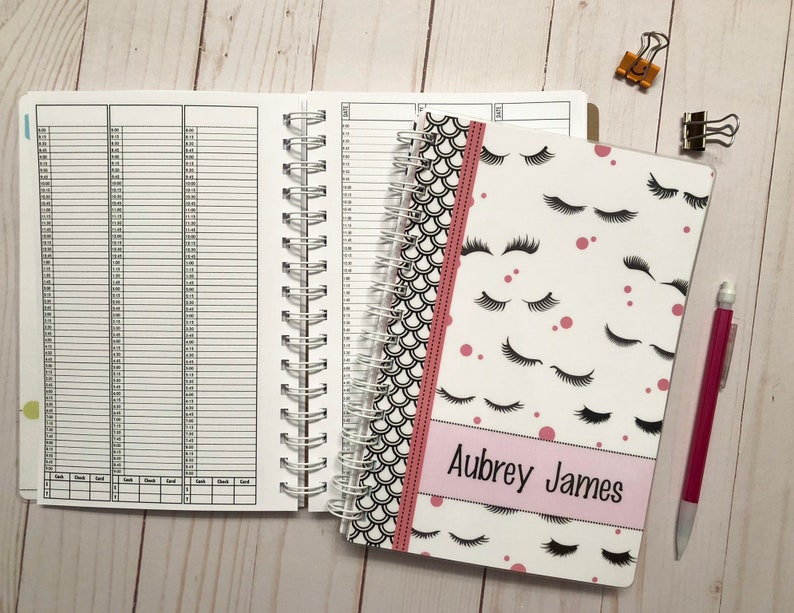 MINI SIZE Appointment Book with Income Tracking. Choose from 5 image 0