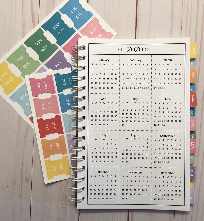 Monthly Divider Stickers for Appointment Books and Planners image 0