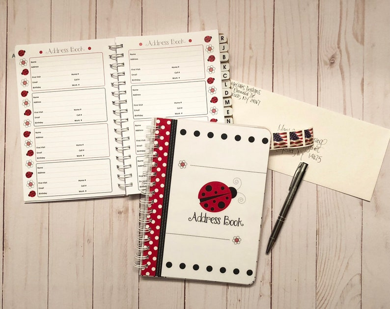 Little Lady Bug Address Book Alphabetical with Divider Tabs  image 0