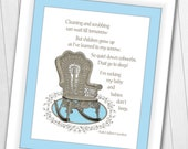 8 x 10 Instant Download Rock My Baby Cause Babies Don 39 t Sleep BLUE Digital Print