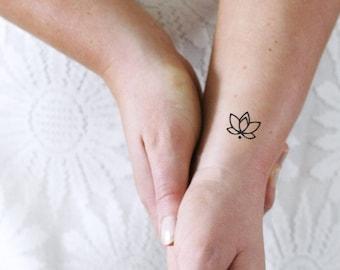 Lotus Tattoo Etsy