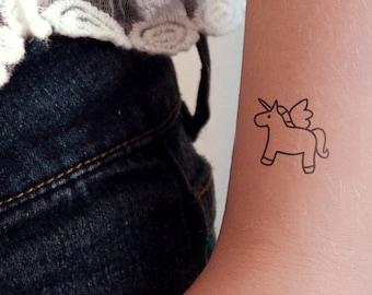 Unicorn Tattoo Etsy