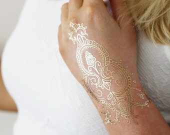 Gold Tattoo Etsy