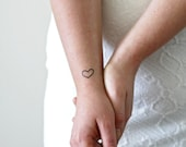 4 small hearts temporary tattoos / small temporary tattoos / love temporary tattoos / Valentine's Day gift / lovers gift / Valentine's Day