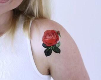 b46ec9327 Small rose temporary tattoo / small temporary tattoo / floral temporary  tattoo / flower temporary tattoo / vintage temporary tattoo / floral