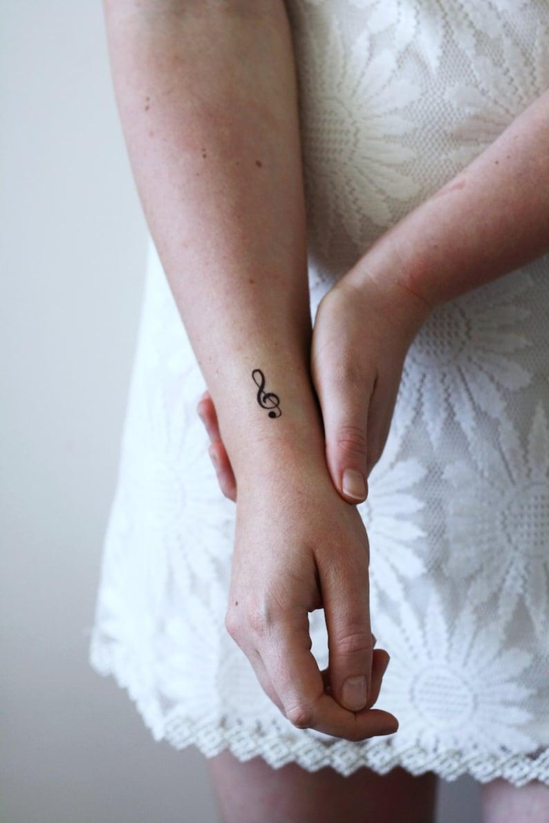 983e509f4cfcf 4 small G Clef temporary tattoos / small temporary tattoo / | Etsy