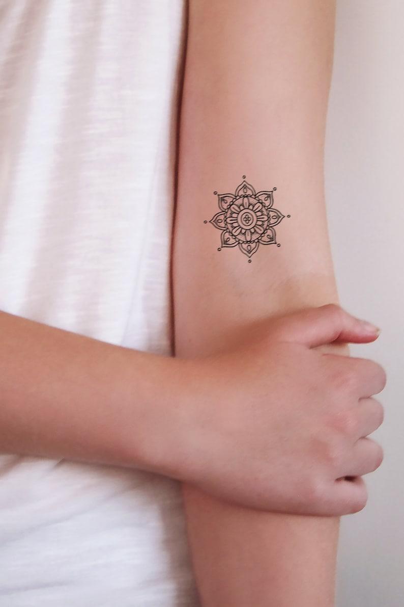 998959419 Small mandala temporary tattoos / mandala tattoo / small | Etsy