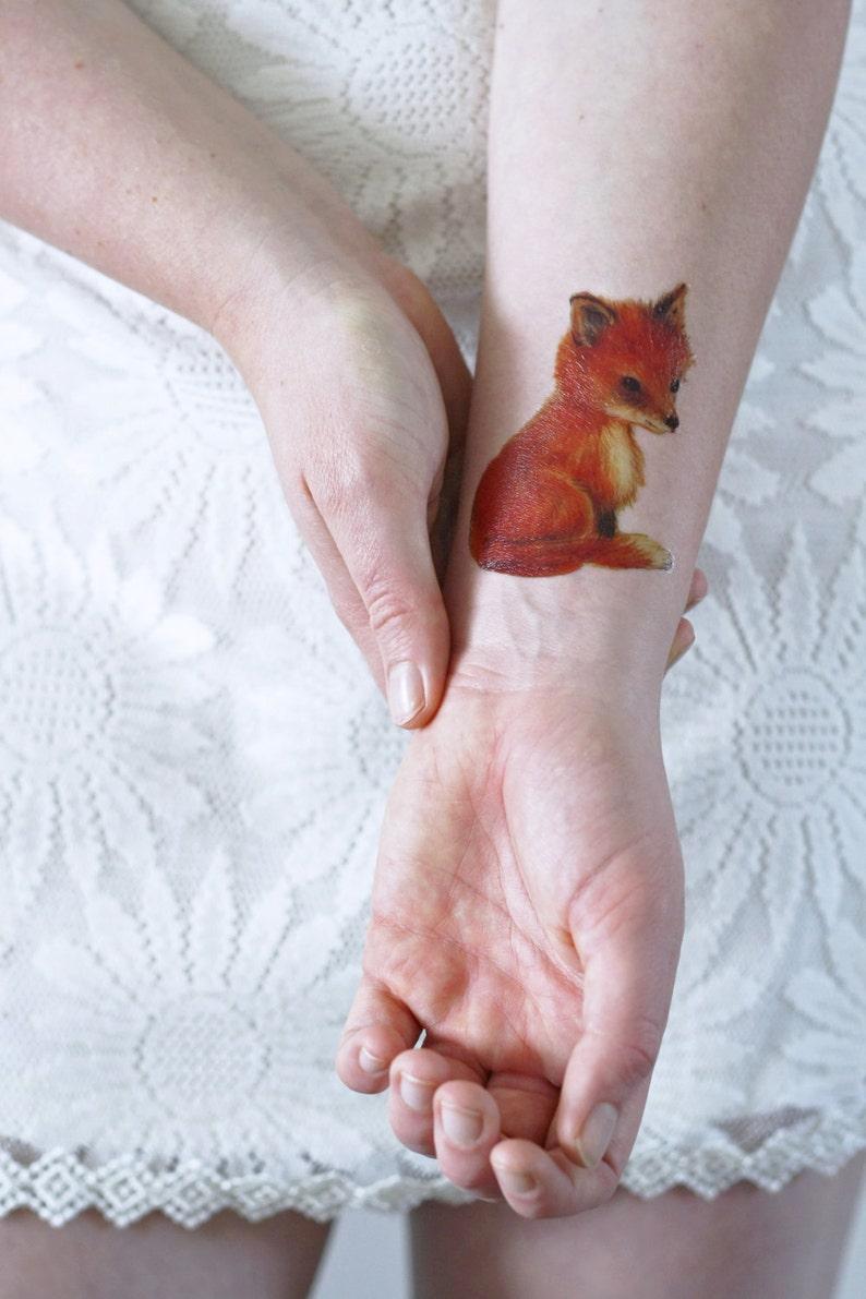Small Fox Temporary Tattoo Boho Temporary Tattoo Fox Gift Idea Boho Gift Idea Fox Tattoo Fox Fake Tattoo Fox Accessoire Fox
