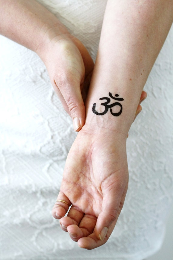 Om Tattoo Aum Symbol Tattoo Om Temporary Tattoo Etsy