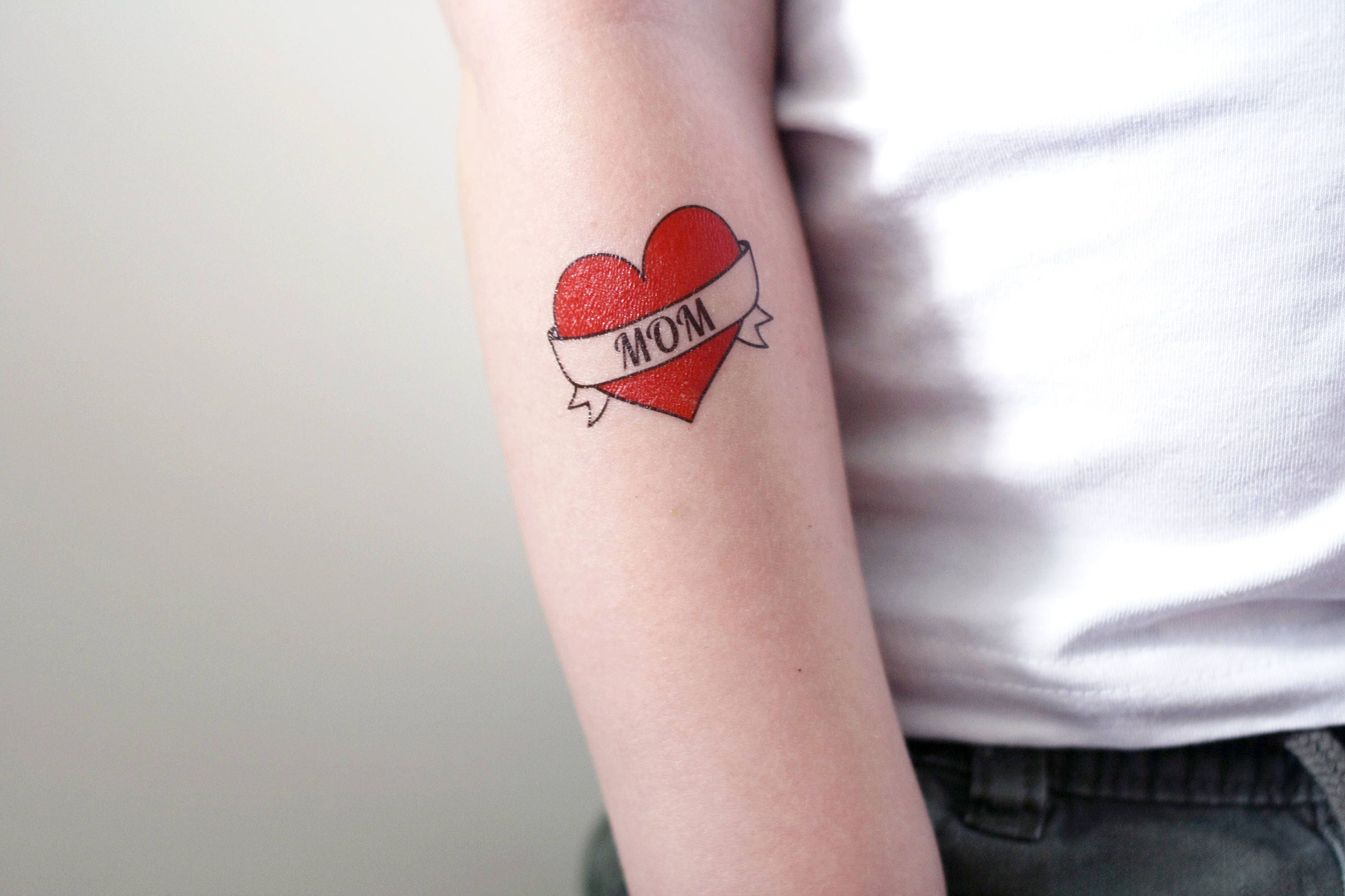 I love mom temporary tattoo / mom tattoo / heart tattoo / | Etsy