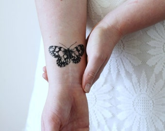 Vintage butterfly temporary tattoo / butterfly accessoire / butterfly jewelry / bohemian temporary tattoo / boho