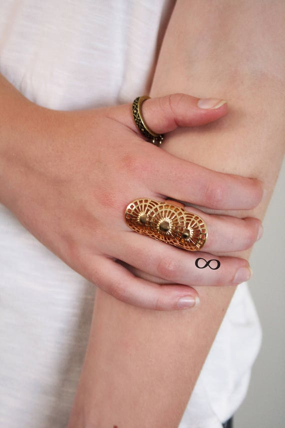 Small Infinity Symbol Finger Temporary Tattoo Set Friendship Etsy