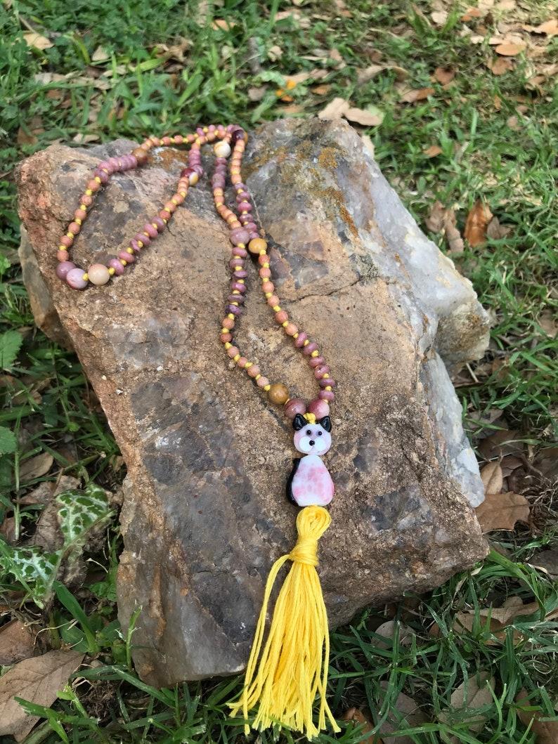 Mala for heart chakra  universal love