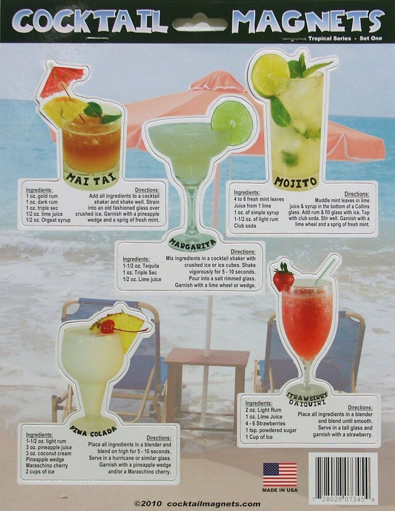 Cocktail Magnets  Drink Magnets Delicious and easy recipies image 0
