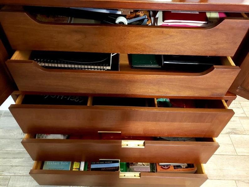 Mid Century Modern American of Martinsville Credenza Buffet Dresser Designer bedroom set brass x