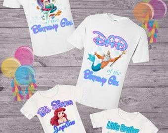The Little Mermaid Mom Shirt Birthday Custom Mommy Shirts