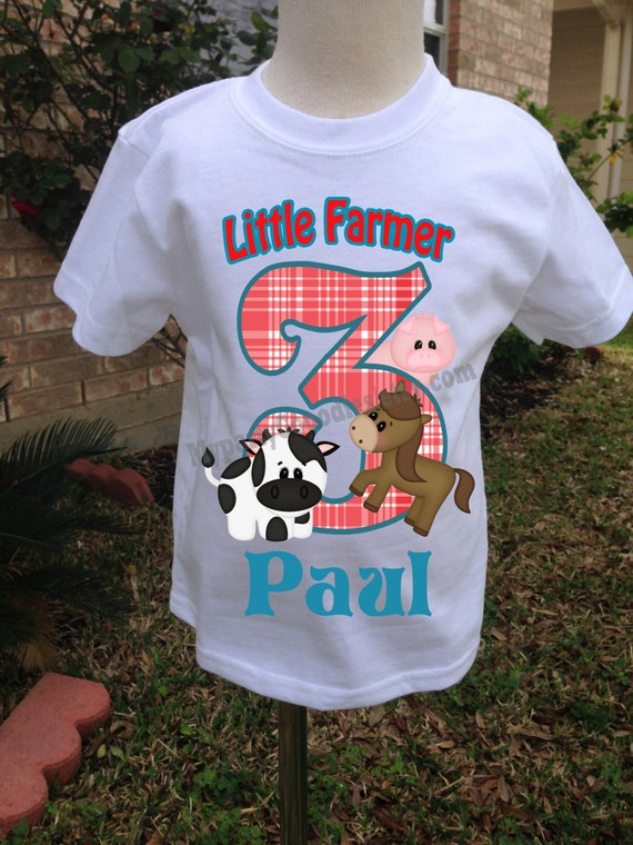 Farm Birthday ShirtFarm Boy Shirt Personalized
