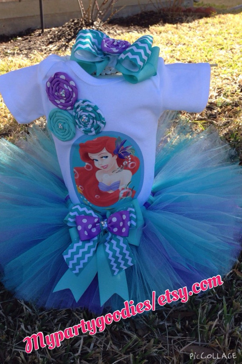 Under the Sea outfit,the little mermaid outfit,little mermaid birthday tutu,mermaid tutu set,ariel tutu,Ariel outfit.