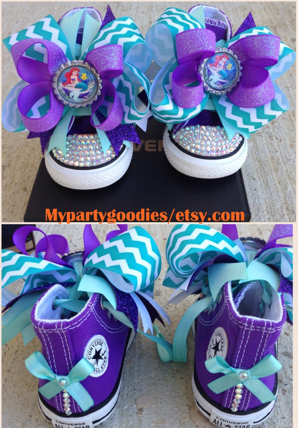 d4df1606b4f4 Under the sea shoes little mermaid converse shoesbling