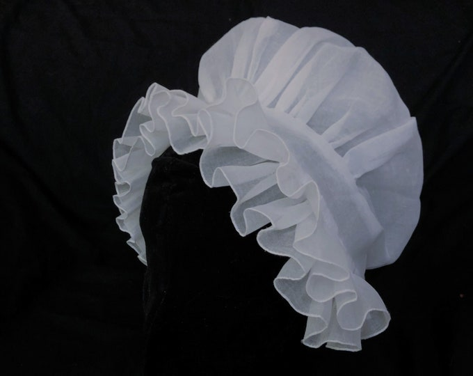 Mrs. Washington - Double Ruffle Cap