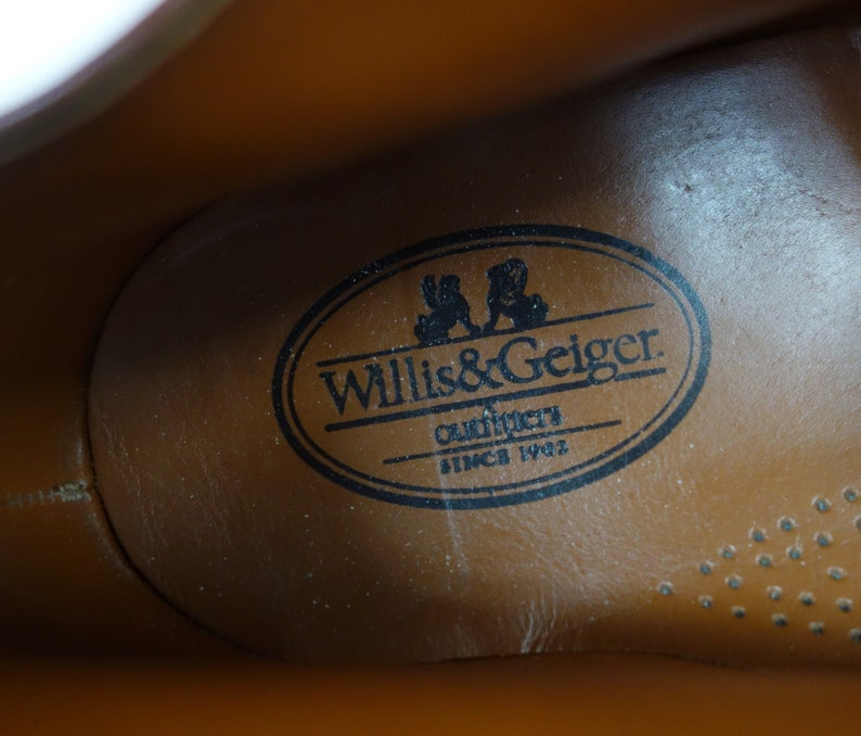 Willis /& Geiger Safari Hiking Trail Ankle Boots Men/'s Size 13 Medium Brown Leather Uppers Leather Insoles Vintage 1990/'s All Occasion