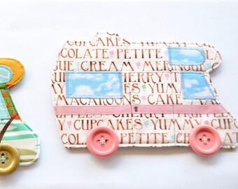 Motor home coaster, RV decor, Hanauma Bay camper mug rug,