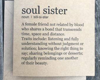 Soul Sister card