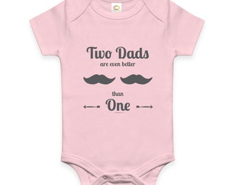 Two Dads Are Even Better than One | baby romper