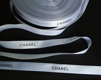 """Sale! 1/2"""" wide -  5 yards White Authentic CHANEL Ribbon New"""