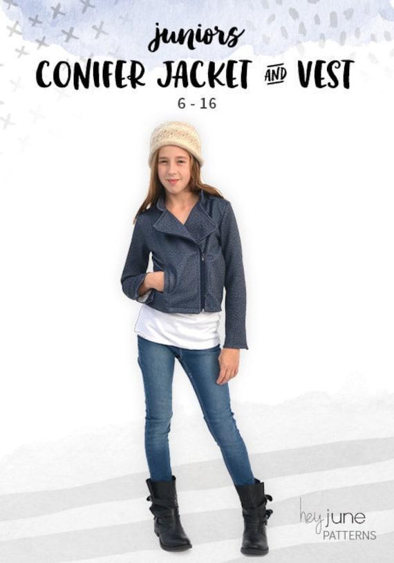 Conifer Jacket And Vest Girls Juniors Tweens Teens Knit Etsy