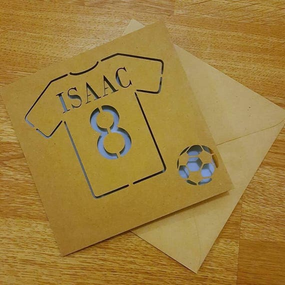 Football Shirt Themed Birthday Card Birthday Card Etsy
