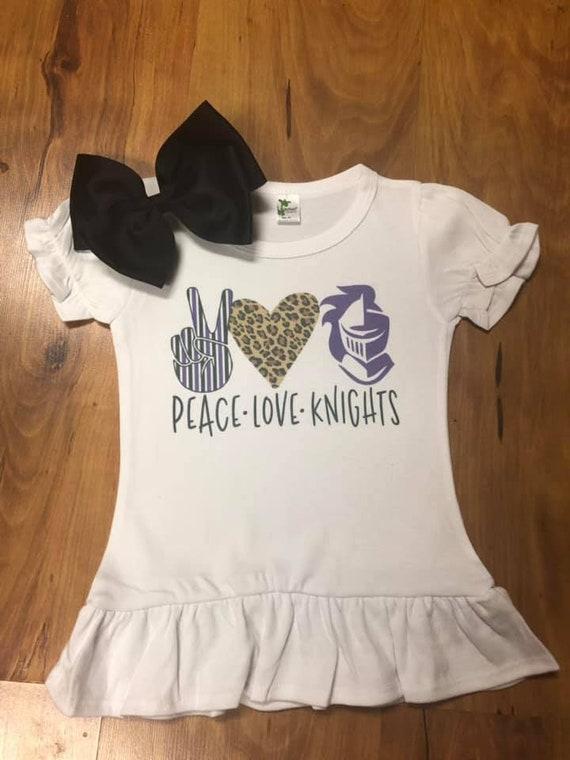 Toddler//Kids Ruffle T-Shirt My Cousin in Arkansas Loves Me