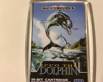Sega Ecco The Dolphin Double Sided Keyring