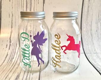 Unicorn Mason Jar Etsy