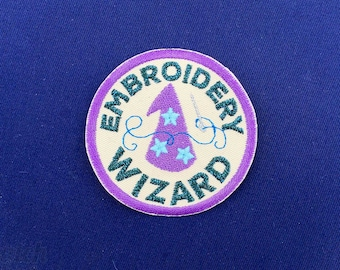Embroidery Wizard patch // ornament