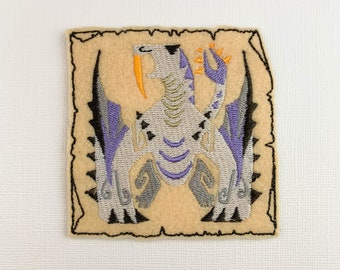 Barioth inspired patches // ornament