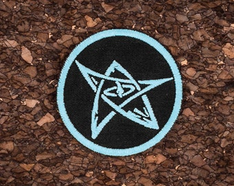Elder sign patch // ornament // glows in the dark
