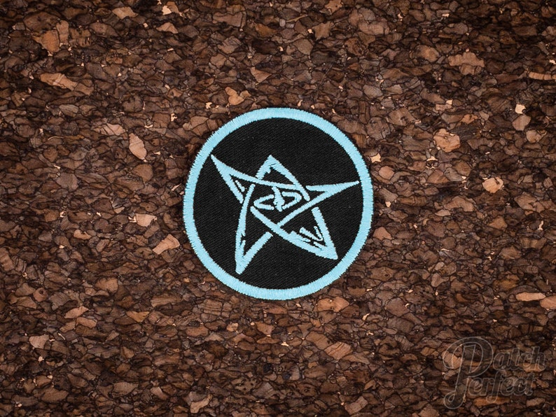 Elder sign patch // ornament // glows in the dark image 0