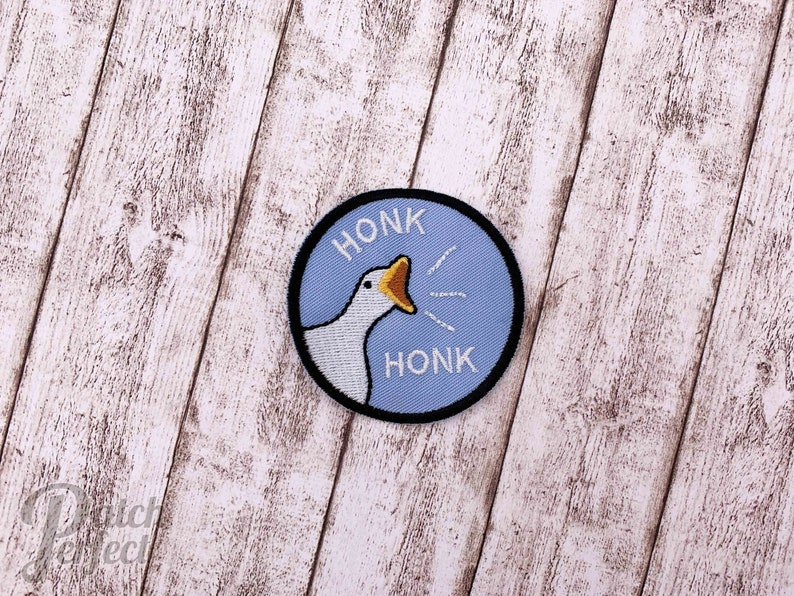 HONK Guse Games inspired patch // ornament light blue