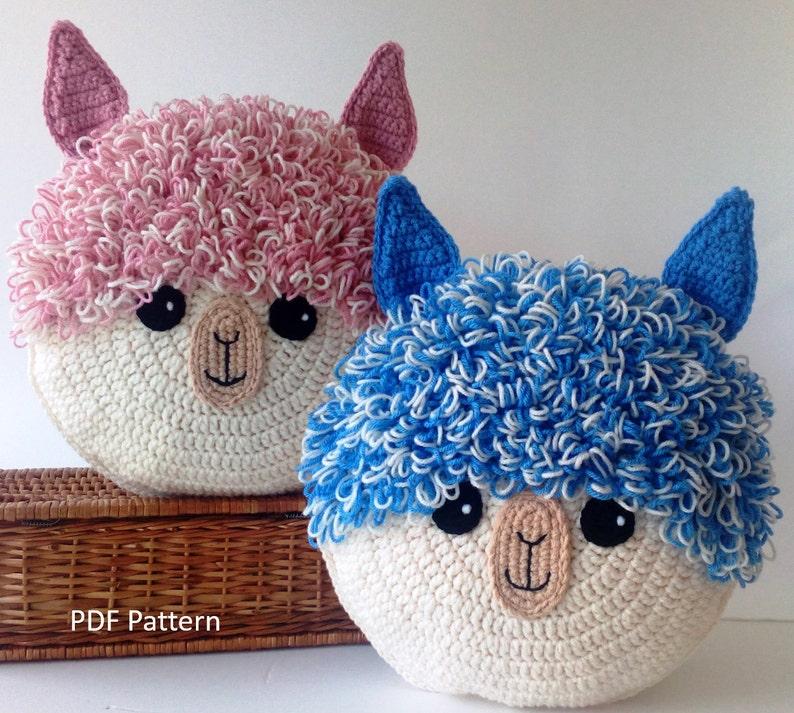 Alpaca Llama Pillow  Cushion CROCHET PATTERN  crochet image 0