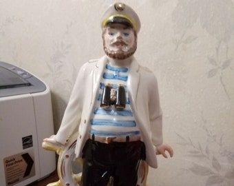 Sailor ship captain sea wolf seaman Rare russian ukrainian porcelain figurine 311