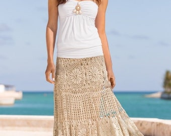Crochet Maxi Skirt Etsy