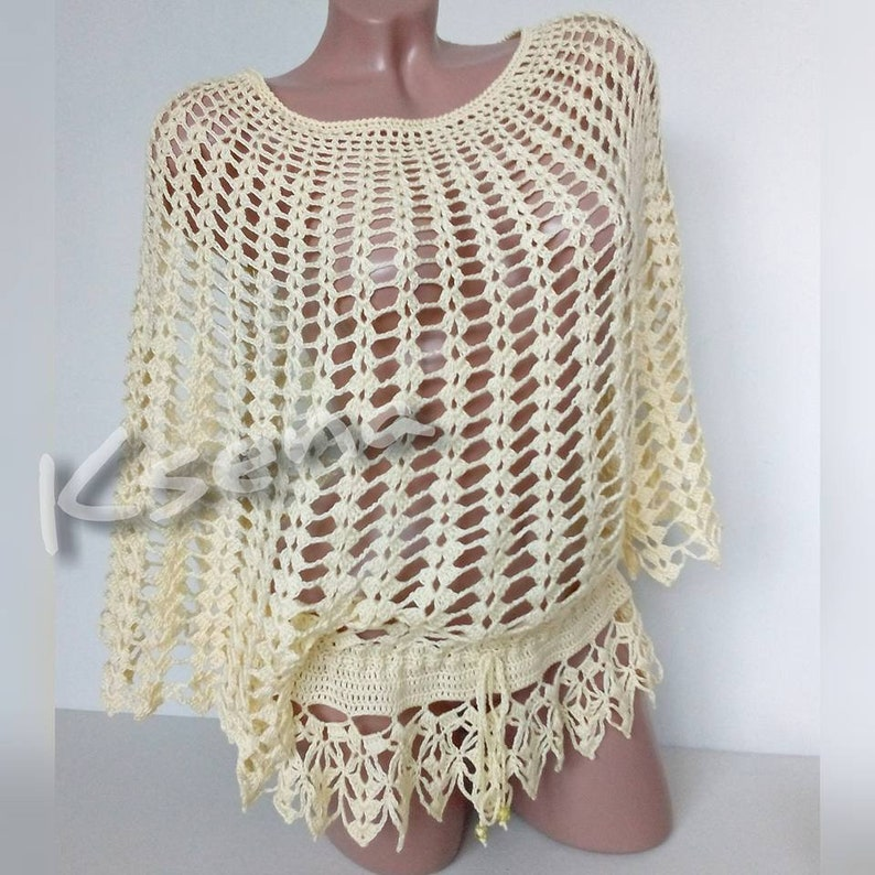 Crochet Top Woman Boho Tunic Crochet Knitted Tops For Women Etsy